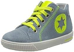 Superfit Baby Jungen Moppy Sneaker, Blau (Hellblau/Gelb 85), 24 EU