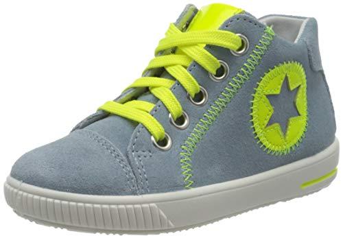 Superfit Baby Jungen MOPPY Sneaker, Blau (Hellblau/Gelb 85), 22 EU