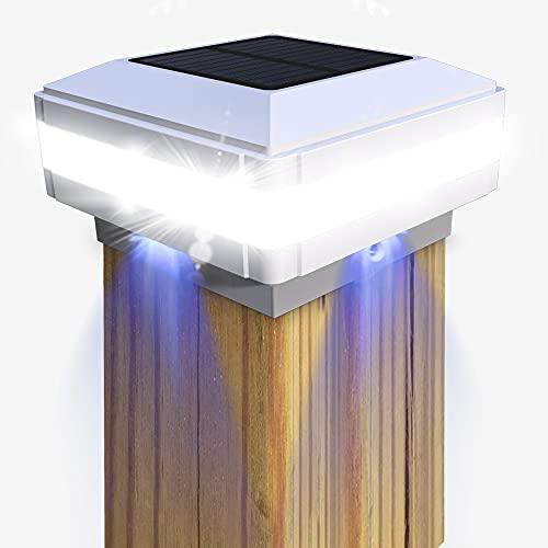 Tapas de poste luz solar GEYUEYA Home Solar Postes valla, lámpara paisaje, exterior IP65 resistente al agua para postes madera, plataforma, Patio, iluminación valla
