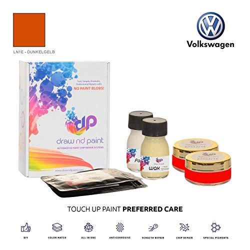DrawndPaint for/Volkswagen Caddy/DUNKELGELB - LN1E / Sistema di Vernice da RITOCCO - Corrispondenza ESATTA/Preferred Care