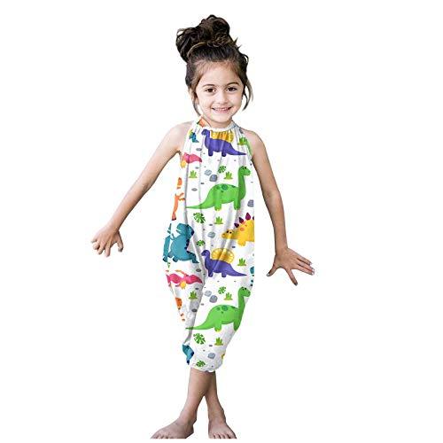 Kleinkind Mädchen Baby Kinder Overall Einteiler Solid Strap Strampler Sommer Outfits Gr. 6-12 Monate, Blau-1