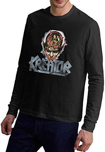 KAYLRR Fashion Tops Kreator da Uomo Coma of Souls Album Cover Manica Lunga Girocollo Autunno Inverno T-Shirt Confortevole