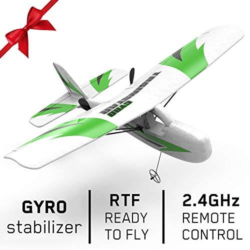 VOLANTEXRC RC Airplane Traninstar Micro 2.4GHz 2CH Remote Control Airplane Ready to Fly with Gyro Stabilization for Kids and Adults, Indoor & Outdoor Toys (781-3)