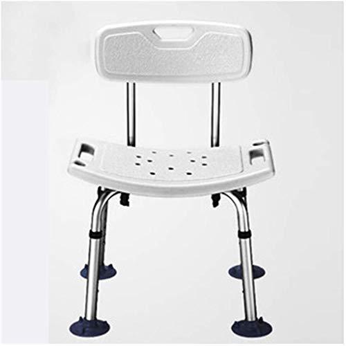 Verstelbare douchecabine stoel badkuip zitbank met antislip rubber aluminium frame