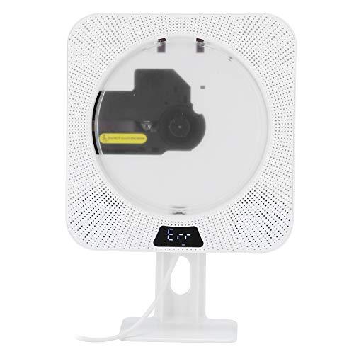 Reproductor de CD de Audio Bluetooth Portátil, 5 en 1 Fetal Education Reread Reproductor de CD Montado en la Pared Audio para el Hogar Reproductor de Música USB Radio FM Entrada de Audio de 3,