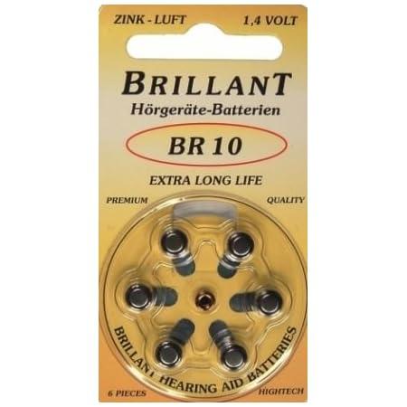 60x Brillant Br 10 Hörgerätebatterien Elektronik
