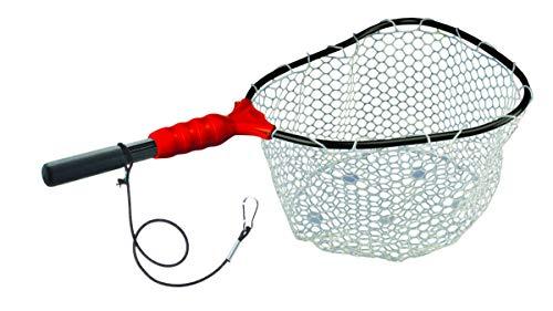 EGO Fishing Net, Kayaking & Wading Design, Floating Net, Salt & Freshwater, Non-Slip Grip, Kayak Tool, Aluminum Clip on Tether, 11