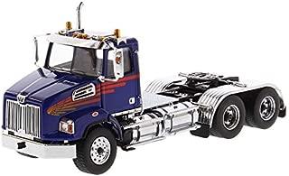 Diecast Masters Western Star 4700 SB Tandem Day Cab Tractor Blue 1/50 Diecast Model 71039