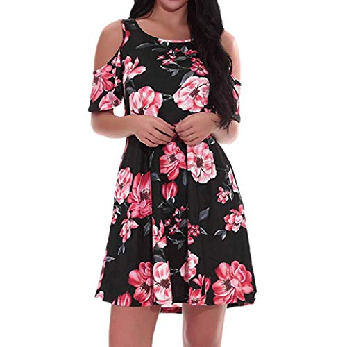 Only Damen Maxikleid Trägerkleid mit Tropical Print Sommerkleid Strandkleid SALE