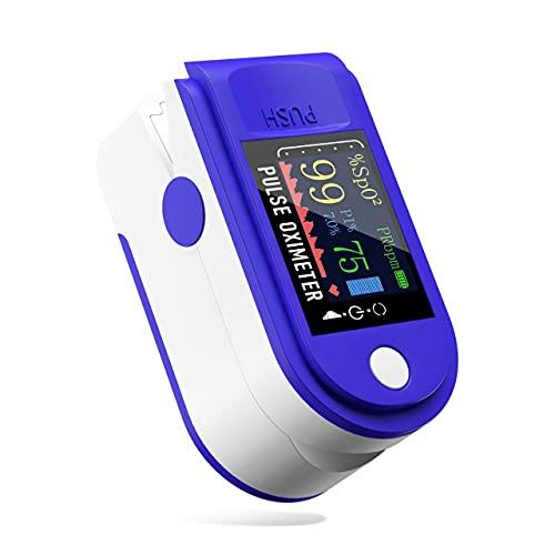 DR VAKU® Pulse Oximeter Fingertip, Blood Oxygen Saturation Monitor Fingertip, SpO2 Monitor Pulse Oximeter, Black