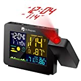 Renogy Digital Projection Alarm Clock, Projector Clock On Ceiling with Temperature Display, Dual