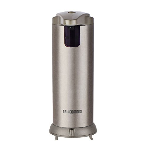 Newcomdigi Automatic Fingerprint Resistant Stainless Steel Touch-Free Soap Dispenser