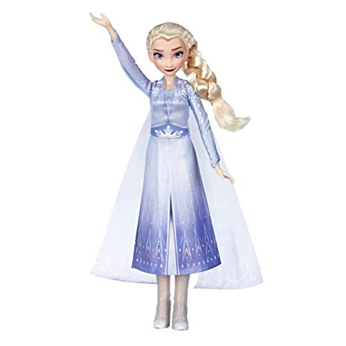Hasbro Disney Die Eiskönigin Singende Elsa Puppe mit Musik in blauem Kleid zu Disneys Die Eiskönigin 2, Spielzeug für Kinder ab 3 Jahren