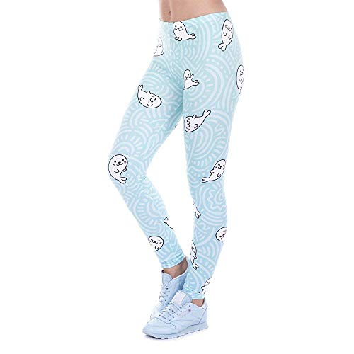 Yoga Hosen Marke Fashion Printed Frauen Legging Mädchen Leggings Avocado Rosa Leggins Schlank Legins Hohe Taille Frauen Hosen (Color :...
