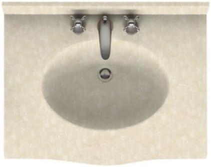 25-in L X 22-in H X 6.875-in H Arctic Granite Swan EV02225.035 Europa Solid Surface Single-Bowl Vanity Top