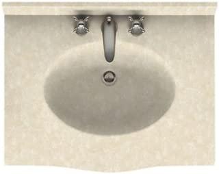 Swan EV02231.126 Europa Solid Surface Single-Bowl Vanity Top 31-in L X 22-in H X 6.875-in H Cloud Bone