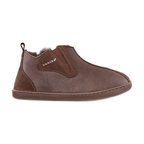 Vanuba Damenschuhe Lammfell Echtleder Wolle Pantoffeln Schlappen Damen Schuhe, braun/braun, EU 40 40 EU Leder Harz Braun/Braun