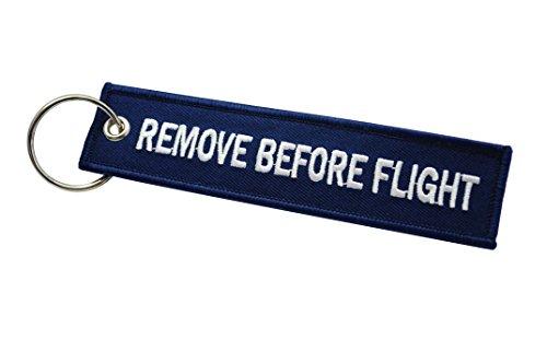 Remove Before Flight Llavero | Etiqueta de Equipaje | Azul Marino/Blanco | Aviamart®