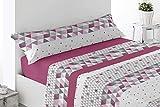 DESING Power-Textil-VIP-HOGAR: Juego SÁBANAS Invierno TÉRMICAS PIRINEO 3 Piezas Suaves cómodas Confortables. (ALHAMA-Rosa, 150 X 190/200CM)