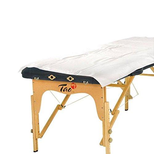 Einweg-Laken, weiß, wasserfest beschichtet, Karton mit 10 x 10 Stück, Hygieneauflage für Massage-/Therapieliegen