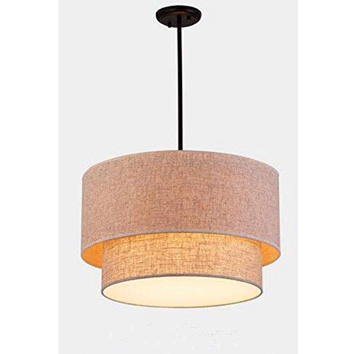 Lámpara Colgante Moderna Lámpara de techo lino sencilla con Lona Pantallas de lámparas de tela Lámpara de araña creativa con lámparas diseño de tela redonda de estilo loft alta Ajustable Ø40cm