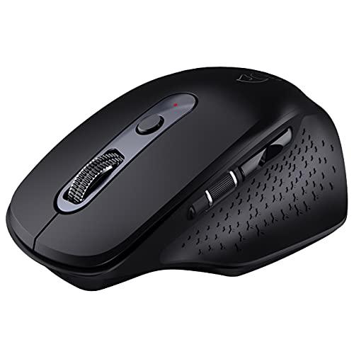 Epeios ワイヤレスマウス Bluetooth マウス 2.4GHz USB 充電式 3台同時接続 静音5DPI(800-1200-1600-2400-3200) 6ボタン 電池寿命最大36ケ月 在宅勤務