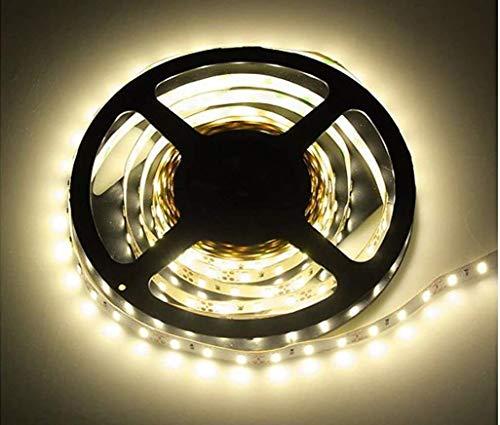 HAVA Ruban lumineux LED autocollant à intensité variable SMD 300 x 3528, 60 SMD/m, 5 m, 12 V 30 W 2500 lm, IP20, largeur 8 mm Blanc chaud (3000 K)