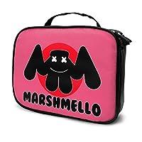 Marshmello (2) 化粧ポーチ 人気 メイクポーチ トラベルバッグ 大容量 機能的 クラッチバッグ 洗面かばん 収納ポーチ 小物入れ 財布 ハンドバッグコスメティックバッグ 旅行 出張