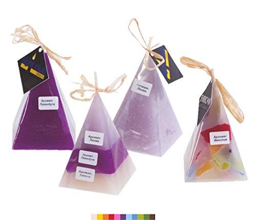 Duftkerzen, handgefertigt, Mehrfarbig, Pyramidenform