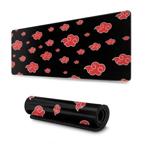 Naruto Mouse Pad Large Gaming Anime Akatsuki Mousepad Non-Slip Water-Resistant Rubber Base Mouse Mat 30'X11.8' Inches