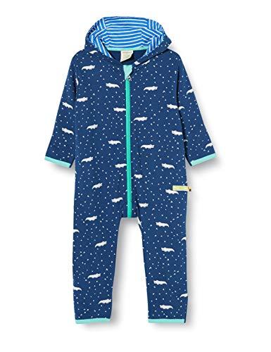 loud + proud Baby-Jungen Overall Allover Print Organic Cotton Strampler, Blau (Ultramarin Ul), (Herstellergröße: 62/68)