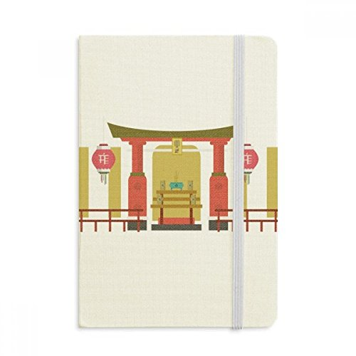 DIYthinker Laterne Memorial-Gateway China Town Notebook Stoff Hard Cover Klassisches Journal Tagebuch A5 A5 (144 X 210mm) Mehrfarbig