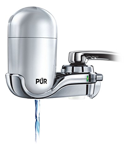 PUR FM-4100B 3-Stage Vertical Faucet Water Filter System, Gray