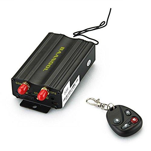 Carchet - Rastreador GSM GPS - Localizador satelital antirrobo TK103B con control remoto, para controlar la posición, con alarma de emergencia en tiempo real, para coches y otros vehículos