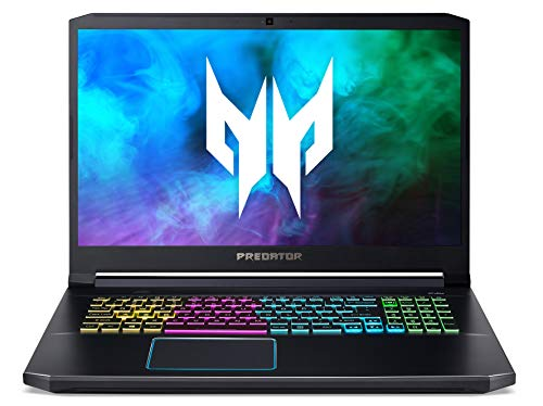 Predator Helios 300 (PH317-54-71AE) 43,9 cm (17,3 Zoll Full-HD IPS 240 Hz matt) Gaming Laptop (Intel Core i7-10750H, 16 GB RAM, 1000 GB PCIe SSD, NVIDIA GeForce RTX 2060, Win 10 Home) schwarz/blau