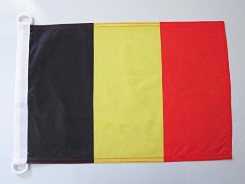 AZ FLAG Bandera Nautica de BÉLGICA 45x30cm - Pabellón de conveniencia Belga 30 x 45 cm Anillos