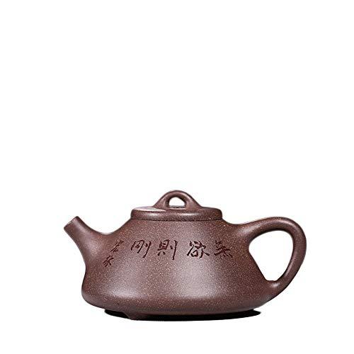 MADONG Tetera Yixing Olla de fundición Hecha a Mano Completa Kungfu Juego de té una Mano Ceremonia del té pequeña Tetera (Color : Green Ash Azure mud)