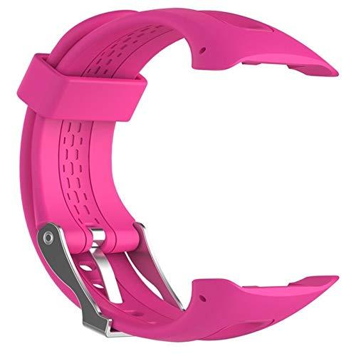 YUANYUAN520 S/L 8 Couleurs Sport Silicone Bracelet Bracelet Bande for Garmin Forerunner 10 15 Montre De Sport GPS Remplacement Bracelet avec Outil Comfortable (Color : Pink, Size : 25cm)