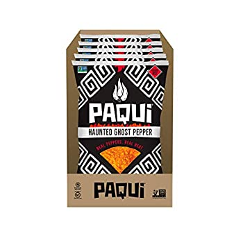 Paqui Haunted Ghost Pepper Spicy Tortilla Chips 5ct 7 oz Grocery Size Bag