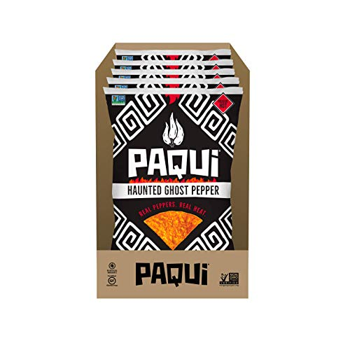 Paqui Haunted Ghost Pepper Spicy Tortilla Chips, 5ct, 7 oz Grocery Size Bag