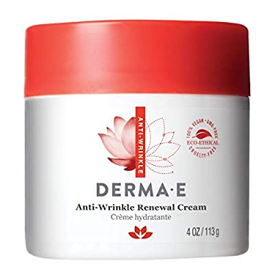 DERMA E Anti-Wrinkle Renewal Cream with Vitamin A Retinyl Palmitate 4oz by Derma-e