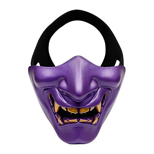 Máscara de media cara de Halloween Evil Demon Monster Máscaras Disfraz de mascarada...