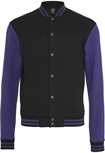 Preisvergleich Produktbild Urban Classics 2-tone College Sweatjacket (2) TB207,  Größe:XL;Farbe:black / purple