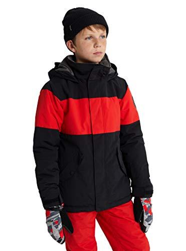 Burton Kids Boys' Little Symbol Jacket, True Black/Flame Scarlet, XL (18 Big Kids)