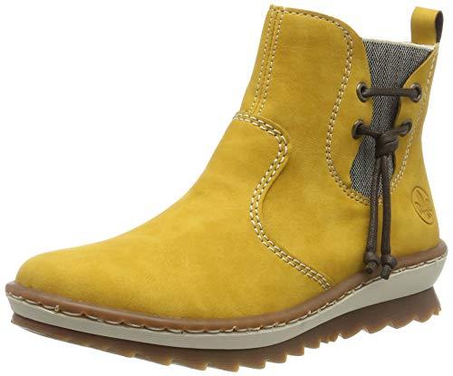 Rieker Damen Z8691 Chelsea Boots, Gelb (Honig/leinen / 68 68), 40 EU