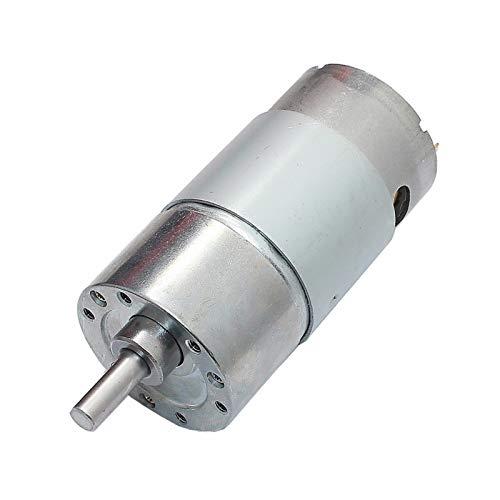 caihv-Motor de Corriente Continua Duradero, Motor Reductor de Engranajes de Alto Torque, Motor de Engranaje DC 12V 180RPM, Accesorios