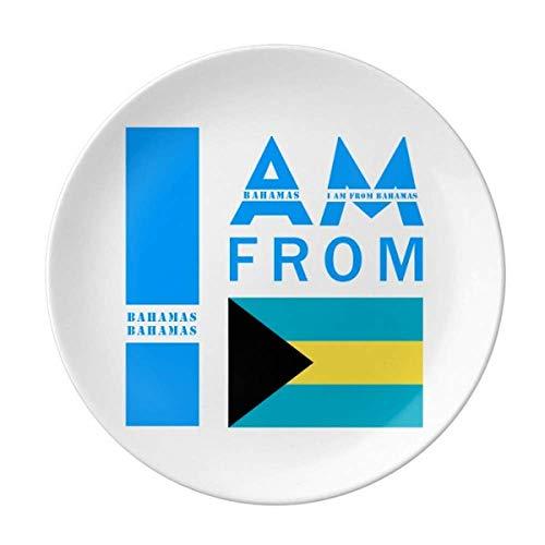 I Am From Bahamas Teller, dekoratives Porzellan, Salver Geschirr, Abendessen