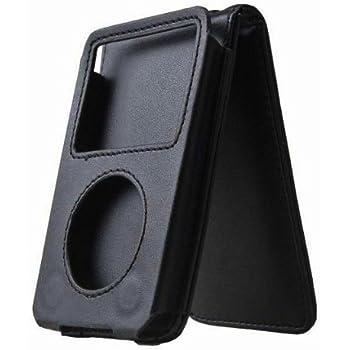 Apple iPod classic ベルトクリップホルダーレザーケースカバーブラック クリップ脱着可能
