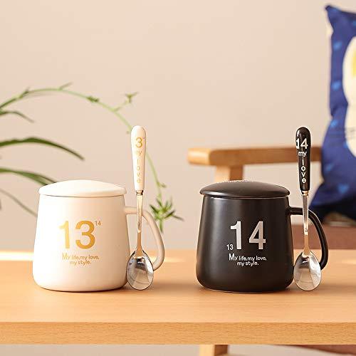ZYJ Kaffee Teetasse, Spülmaschinenfest Hotelware Tassen Espressotassen Tassen Keramiktassen 2 STÜCKE