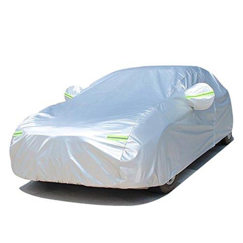 FREESOO Funda para coche FUNDA PROTECTORA CUBIERTA COCHE IMPERMEABLE algodón reflectante gris plate